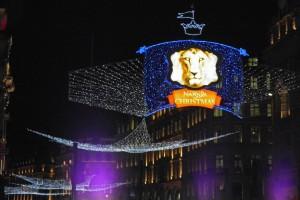 Calles de Londres adornadas por Navidad, fiestas de Londres