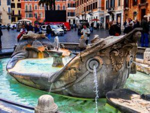 Fuente de la Barcaza en la Plaza de España