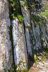 Formaciones rocosas junto al río Asón