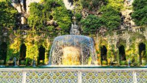 Fuente Oval, una de las más espectaculares de la Villa del Este