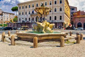 Fuente del Tritón en la Piazza Barberini