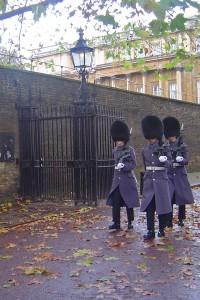 Guardia Real con su uniforme de invierno