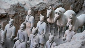 Caballos y guerreros de terracota de Xian