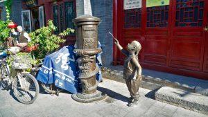 Calle de un barrio tradicional de Pekín