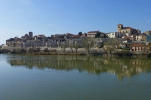 Casco histórico de Zamora rodeado por la muralla medieval, historia de Zamora