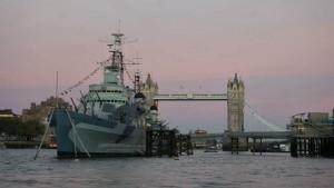 HMS Belfast, una de las sedes del Museo Imperial de la Guerra en Londres