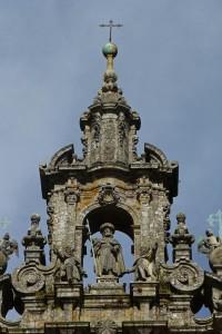 Hornacina con la imagen del Apóstol Santiago en la Catedral de Santiago de Compostela