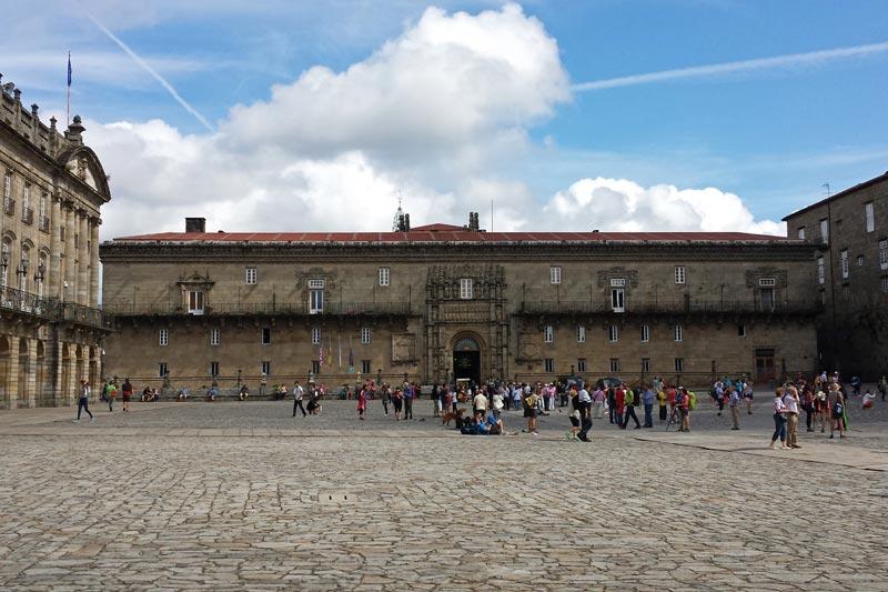 Hospital de los Reyes Católicos en la Plaza del Obradoiro, antiguo hospital de peregrinos