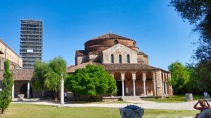 Iglesia de Santa Fosca y torre campanario de la Catedral de Torcello