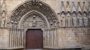 Portada de la Iglesia de Santa María en Olite