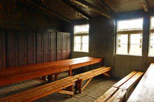 Interior de los barracones del Campo de Concentración de Sachsenhausen