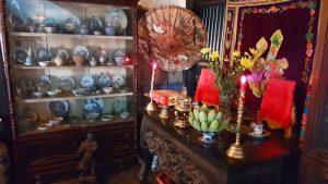 Interior de una de las casas tradicionales de Hoi An