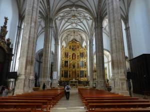 Interior Colegiata de San Benito Abad, sitios de interés de Yepes
