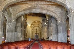 Interior de la Iglesia de San Francisco de Asís en La Habana, reconvertido en sala de conciertos