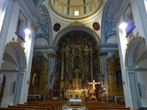 Interior de la Iglesia de San Miguel, edificios religiosos de Murcia
