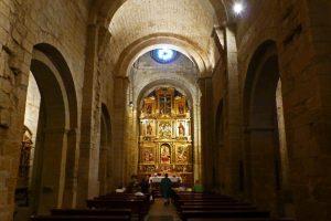 Interior de la iglesia del Monasterio de San Pedro el Viejo en Huesca