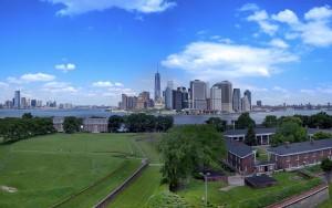 Vistas de Manhattan desde la Isla de los Gobernadores