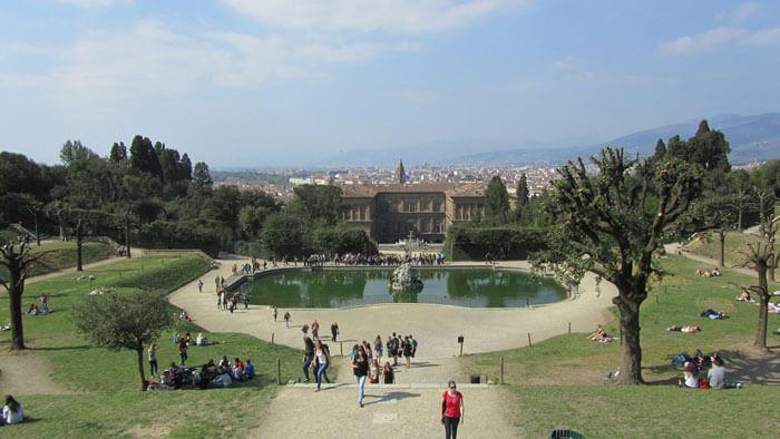 Jardines de Boboli, ubicados junto al Palacio Pitti.