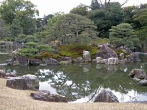 Jardines del Castillo Nijo en Kioto