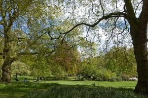 Kensington Gardens en Londres, junto al Palacio de Kensington