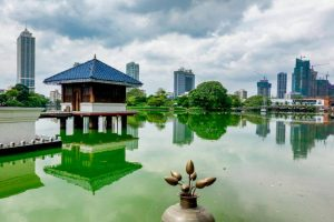 Lago Beira, uno de los parques más pintorescos de Colombo