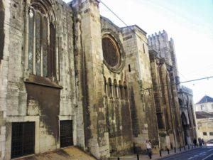 Lateral de la Catedral de Lisboa