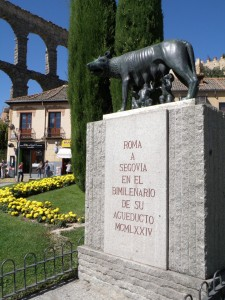 Estatua de la loba Luperca