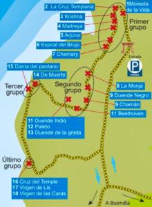 Mapa de la Ruta de las Caras