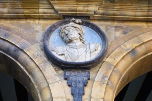 Medallón en la Plaza Mayor de Salamanca