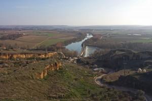 Río Duero a los pies de la ciudad de Toro, vistas desde el Mirador del Espolón