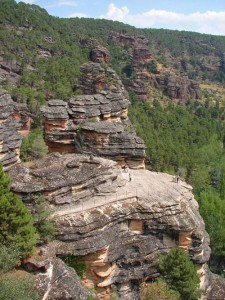 Mirador en el Barranco de la Hoz en el Parque Natural del Alto Tajo