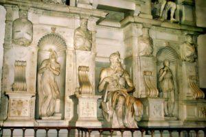 """""""Moisés"""" de Miguel Ángel, en la Basílica de San Pedro in Vincoli"""