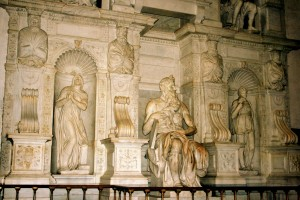 Moisés en la Basílica de San Pietro in Vincoli. Foto de Abir Anwar.