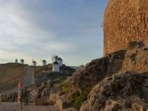 Molinos de La Mancha desde el Castillo de Consuegra