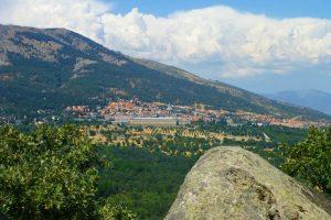 Vistas del Monasterio de El Escorial desde la Silla de Felipe II