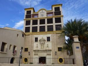 Fachada del Monasterio de Santa Clara la Real en Murcia