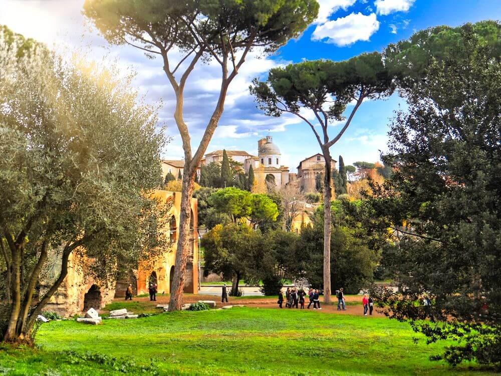 Monte Palatino en Roma