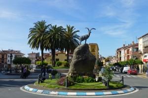 Monumento a la Cabra Hispánica en la Plaza del Castillo de Candeleda