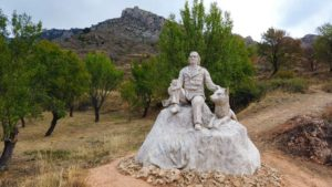 Monumento de Félix Rodríguez de la Fuente en Poza de la Sal