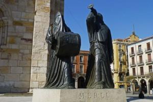 Monumento al Merlú, una de las figuras más emblemáticas de la Semana Santa de Zamora, fiesta de Zamora