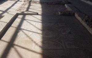 Mosaico de la Metamorfosis, primer hallazgo del Parque Arqueológico de Carranque