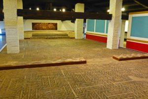 Mosaico romano en el Museo Provincial de Teruel