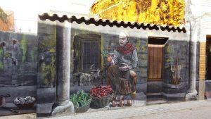 Mural del hortelano, parte de la ruta de los murales de Escalona