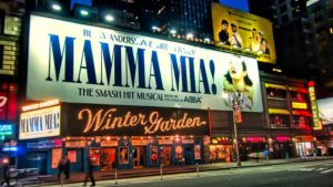 Musical en el teatro Winter Garden de Broadway