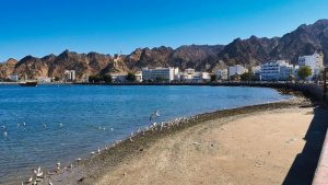 Fuerte de Mutrah protegiendo en puerto de Mutrah