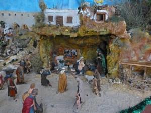 Belén en la Colegiata de San Benito Abad, fiestas de Yepes