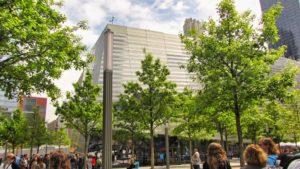 Plaza con robles blancos en el World Trade Center