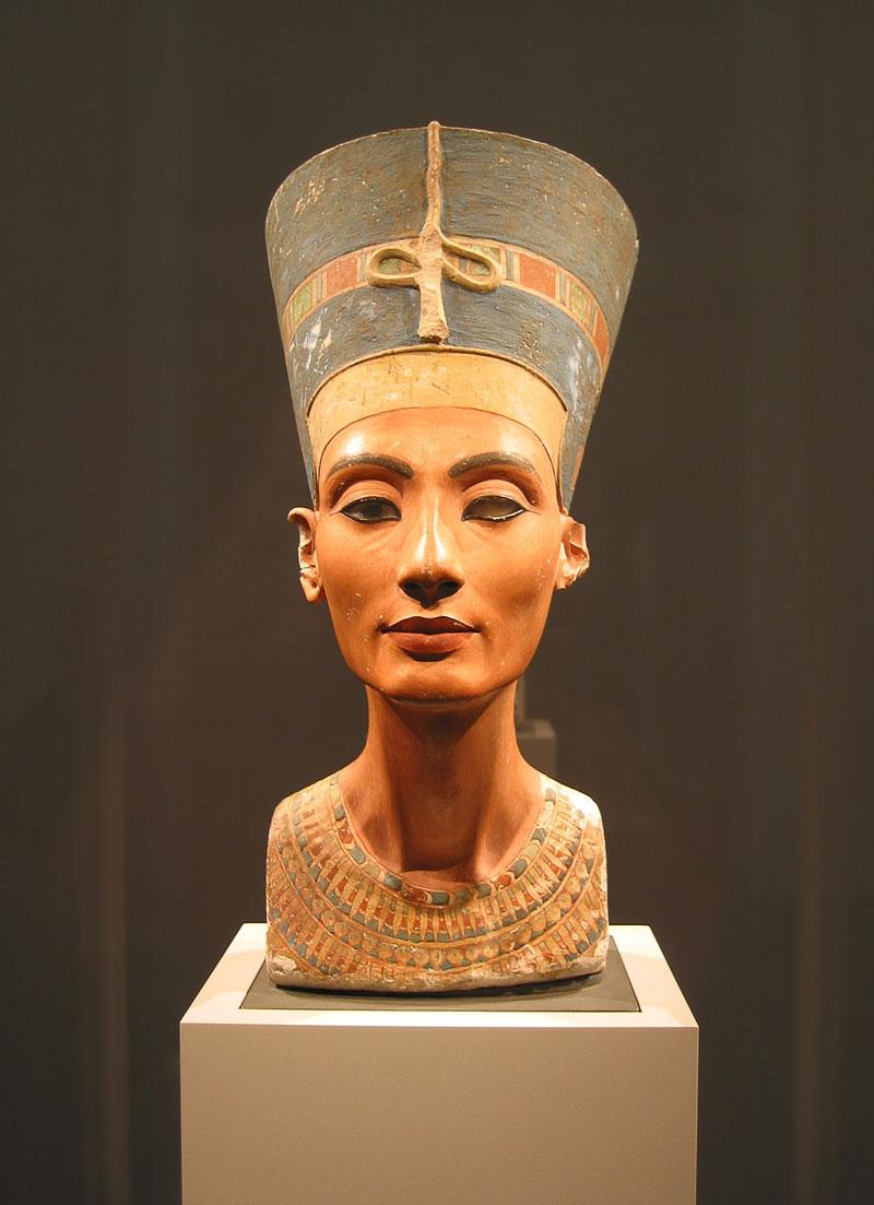 Busto de Nefertiti en el Museo Nuevo d eBerlín
