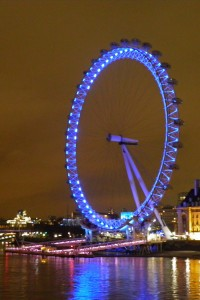 Noria London Eye noche