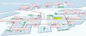 Mapa con las estaciones de la línea Yurikamome